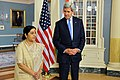 Secretary Kerry and Indian External Affairs Minister Swaraj Address Reporters Before Their Bilateral Meeting in Washington (21007763883).jpg