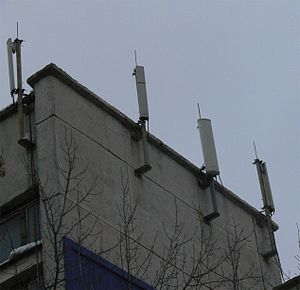 Sector antenna - Sector antennas are often installed on existing structures.