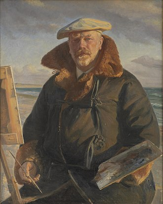 Michael Ancher - Michael Ancher: self-portrait (1902)