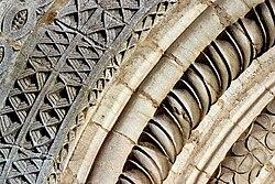 Archivolte du portail ouest