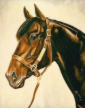 Irish Derby - Shirley Heights, Derby winner by Bob Demuyser (1920-2003)