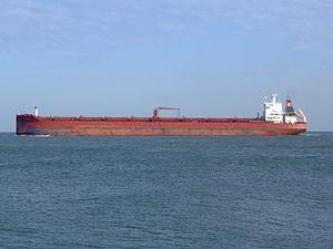 Sibonina - IMO 9036519 - Callsign A8LU6 leaving Port of Rotterdam, Holland 27-Jan-2005 photo-3.jpg