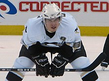 Photo de Sidney Crosby dans la tenue des Penguins.