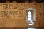 Siedlęcin Wieża Książęca Gotyckie malowidła ścienne (3).JPG