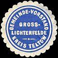 Siegelmarke Gemeinde - Vorstand Gross - Lichterfelde - Kreis Teltow W0224346.jpg