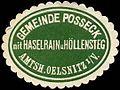 Siegelmarke Gemeinde Posseck mit Haselrain und Höllensteg - Amtshauptmannschaft Oelsnitz im Vogtland W0253187.jpg