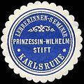 Siegelmarke Lehrerinnen - Seminar - Prinzessin - Wilhelm Stift - Karlsruhe W0235207.jpg