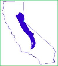 Position of Sierra Nevada inside California