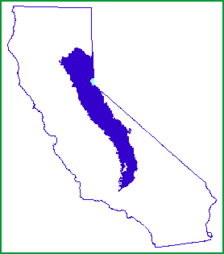 Position of Sierra Nevada inside California