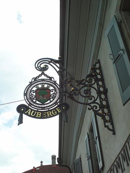File:Sign of Auberge Communale de Carouge.JPG