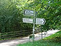 Signposts above the North Downs Way near Kemsing - geograph.org.uk - 269534.jpg