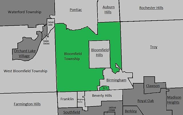 file simple map of bloomfield township  oakland county  mi
