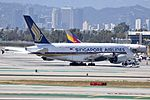 Singapore Airlines, Airbus A380-841, 9V-SKT - LAX (18423367392).jpg