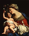 A painting of Elisabetta Sirani's Virgin and Child