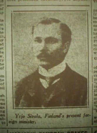 Yrjö Sirola - Sirola in 1918