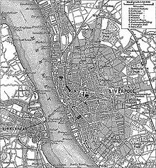 Pianta di Liverpool nel 1880