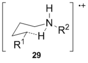Hofmann–Löffler reaction - Image: Six membered TS for the Hofmann Löffler Freytag reaction