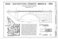Sixteenth Street Bridge, Title Page - Sixteenth Street Bridge, Spanning Piney Branch Parkway, Washington, District of Columbia, DC HAER DC,WASH,598- (sheet 1 of 2).png