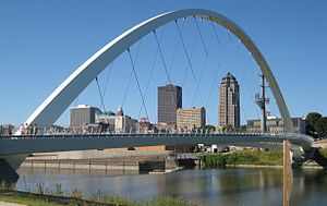 Downtown Des Moines - A portion of the downtown Des Moines skyline.