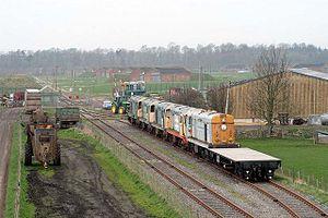 HM Factory, Gretna - Railway sidings at MOD Depot Smalmstown.