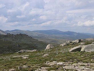 Snowy Mountains - View towards Mount Kosciuszko.