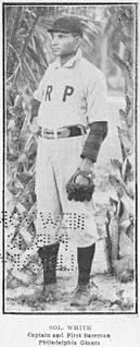 Sol White American baseball player, owner and historian