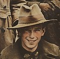 Soldier in 1917 face detail from Group of Australian soldiers and nurse (13960882562) (cropped).jpg
