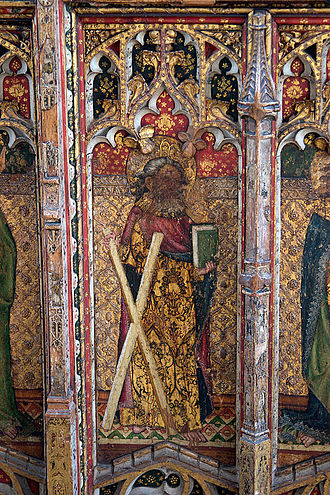 Rood screen - Detail of the rood screen of St. Edmund's church, Southwold, United Kingdom