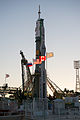 Soyuz TMA-07M rocket at the launch pad.jpg