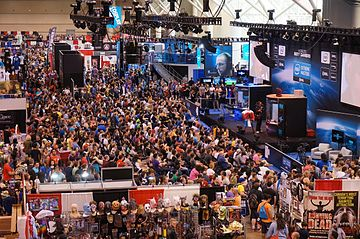 A large crowd at the Fan Expo at Intel Extreme Masters Toronto 2014