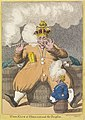 Spotprent op Lodewijk Napoleon, 1806 The King of Holland and the Dauphin (titel op object), RP-P-1981-53.jpg