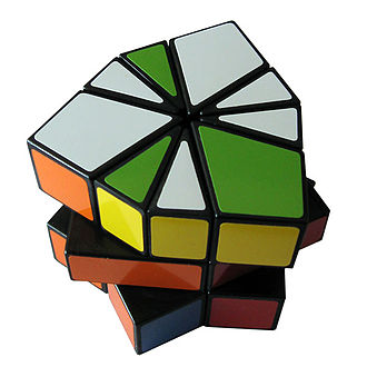 Square-1 (puzzle) - The Square-1 puzzle scrambled.
