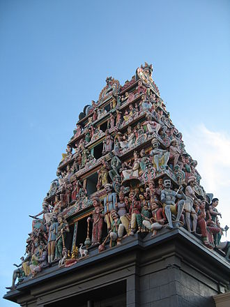 Indian Singaporeans - Founded in 1827, Sri Mariamman Temple is Singapore's oldest Hindu temple.