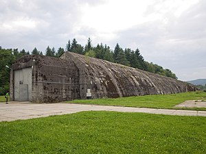 Anlage Süd - The surviving military railway bunker at Stępina, which was part of Anlage Süd, July 2011.