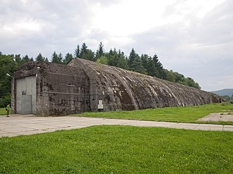 Anlage Süd - The surviving military railway bunker at Stępina, which was part of Anlage Süd, July 2011