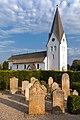 St.-Clemens-Kirche mit sprechenden Grabsteinen in Nebel, Amrum (2018).jpg