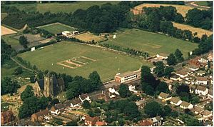 St George's Cricket Ground - Aerial view of St.Georges Cricket Club in 1985