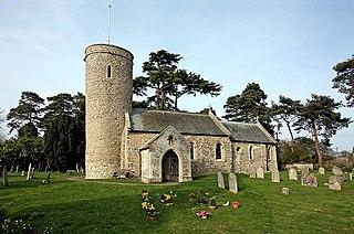 Framingham Earl village in the United Kingdom