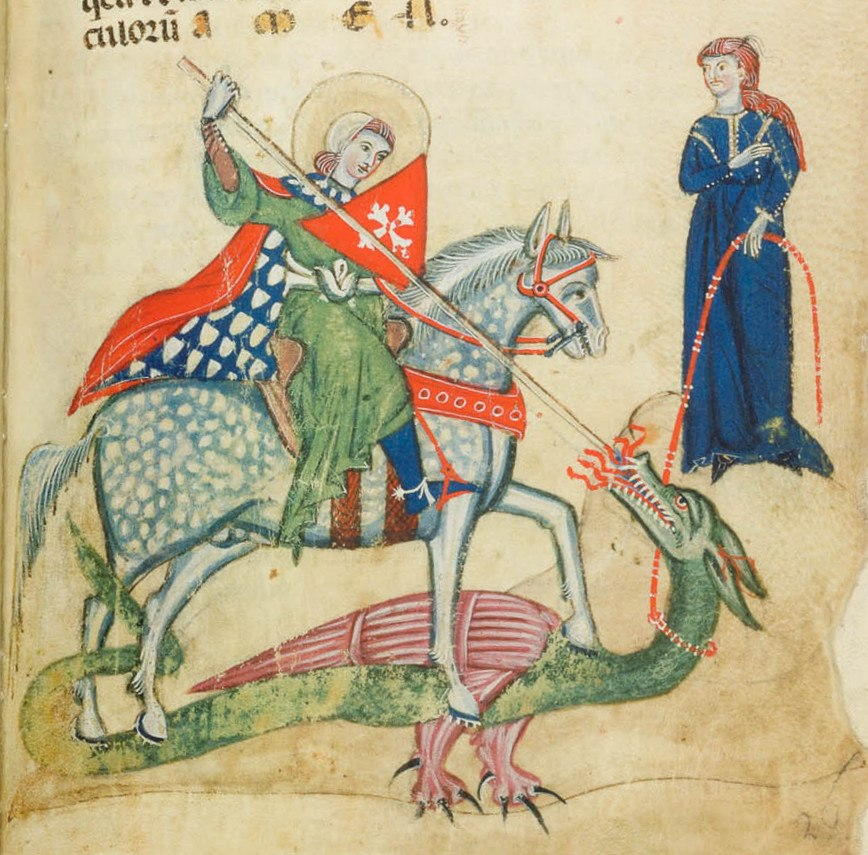 St George and the Dragon Verona ms 1853 26r