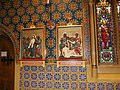 St Giles Stations 10- 11 of the Cross with wall art 3654.JPG