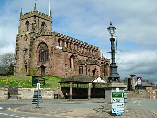 St James Church, Audlem Church in Cheshire, England