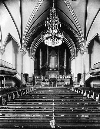 St. James United Church (Montreal) - Image: St James Methodist Church Montreal 1892