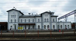 railway station in Kutno, Poland
