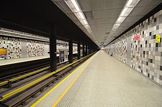 Słodowiec metro station - Image: Stacja metra Słodowiec 04