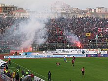 AS Livorno supporters during a match against Udinese Stadio Armando Picchi 3.jpg