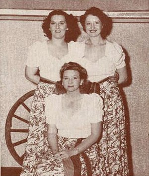 Jo Stafford - The singing Stafford Sisters in 1941