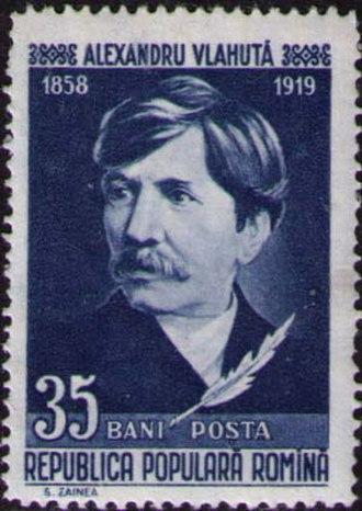 Alexandru Vlahuță - Alexandru Vlahuţă on Romanian stamp 1958