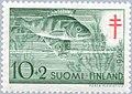 Stamp of Finland - 1955 - Colnect 46207 - European Perch Perca fluviatilis.jpeg