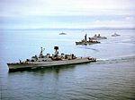 Standing Naval Force Atlantic ships underway 1982.jpg