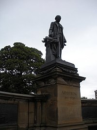 Statue of Lord Armstrong, outside Hancock museum - geograph.org.uk - 1454917.jpg